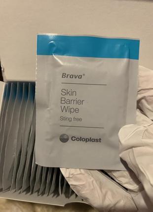 Серветки для захисту шкірних бар'єрів coloplast brava.