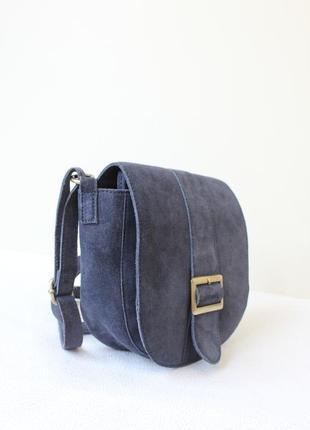 Замшевая сумка - седло