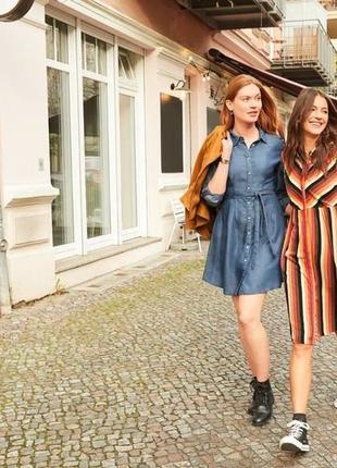 Новое джинсовое подростковое платье esmara р. евро 34, наш 40