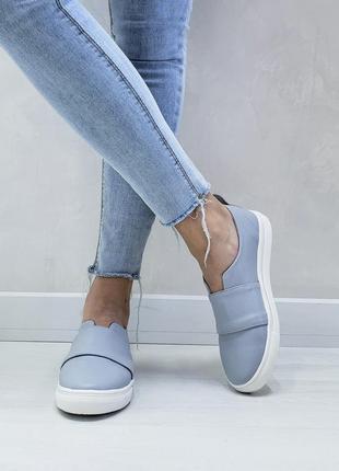 Удобные кожаные слипоны р32-41 мокасины балетки туфли сліпони мокасини туфлі