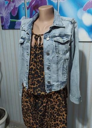 Суперская джинсовая куртка от h&m4 фото