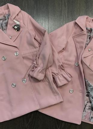 Детское пальто кашемировое пальтишко на девочку
