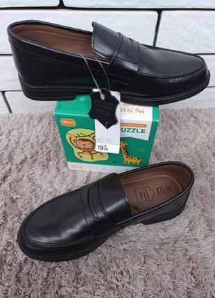 Кожаные туфли для мальчиков и мужчин tex