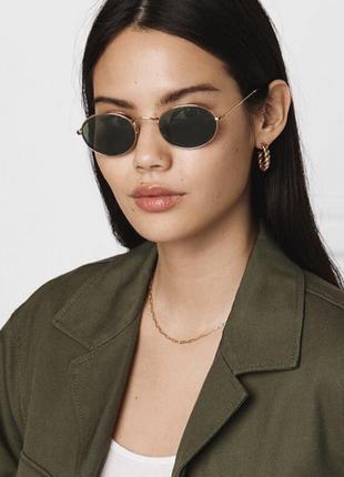 Овальные очки женские