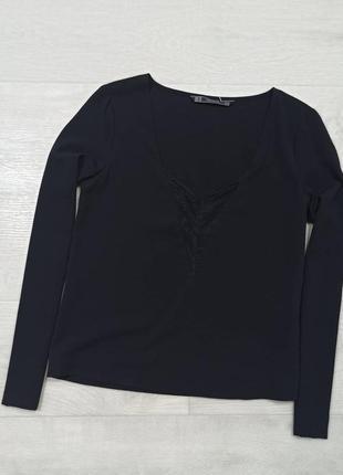 Блуза с кружевом zara
