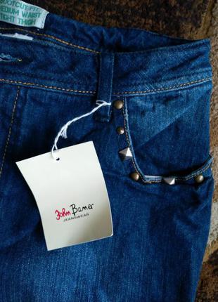 John baner синие джинсы с декором распродажа