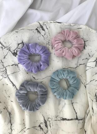 Детская бархатная резинка для волос в пастельных тонах/скранчи