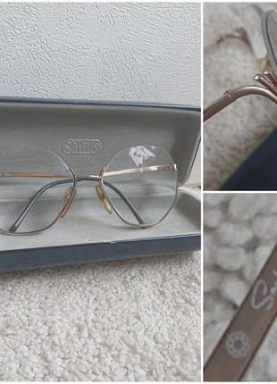 Шикарные винтажные очки оправа saphira австрия.
