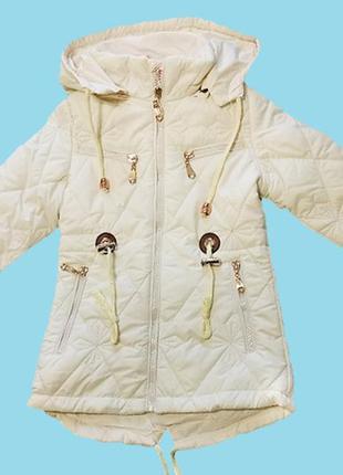 Куртка-парка для девочки. демисезонная курточка для девочки