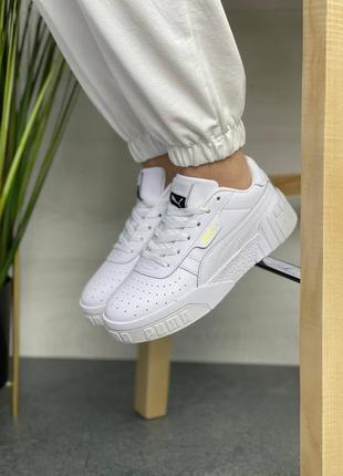 🔥женские кроссовки puma cali white