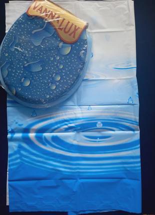 Штора для ванной,душа + крышка для унитаза