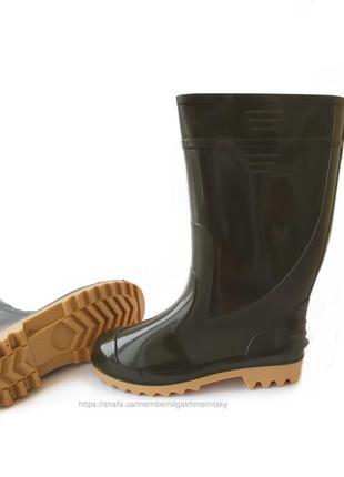 Резиновые сапоги мужские гумові чоботи резинові 41-46