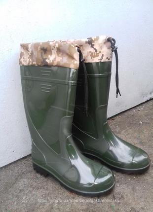 Мужские резиновые сапоги  гумові чоботи резинові 41-46