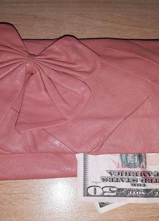 Кожаный кошелек river island leather