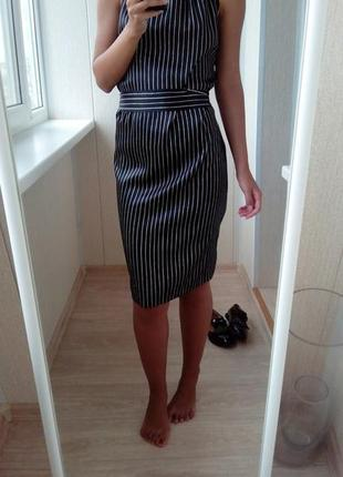 Платье офисное в полоску
