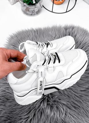 Кроссовки женские белые+черные
