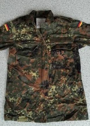 Женская рубашка немецкой армии камуфляж флектарн бундесвер