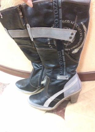Новые германские кожаные сапоги