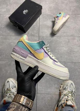 Кроссовки nike air force 1 shadow beige violet