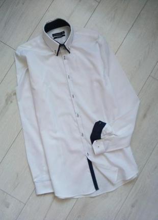 Мужская белая рубашка tailored fit