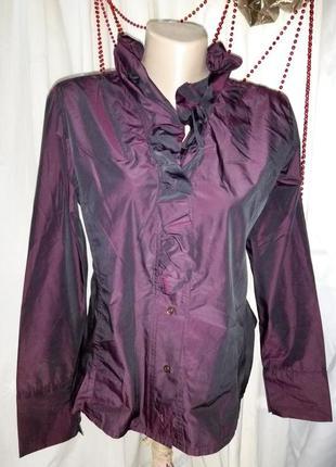 ***first choice***   шикарная блуза с жабо разм 52 пог-54см