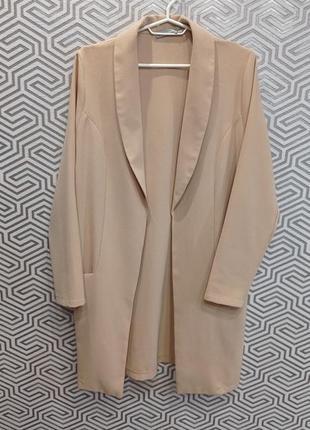 Тренч кардиган удлинённый пиджак мантия love