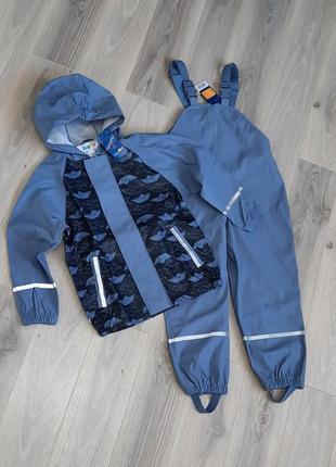 Комплект дождевик куртка и полукомбинезон (без подкладки) lupilu 122/128