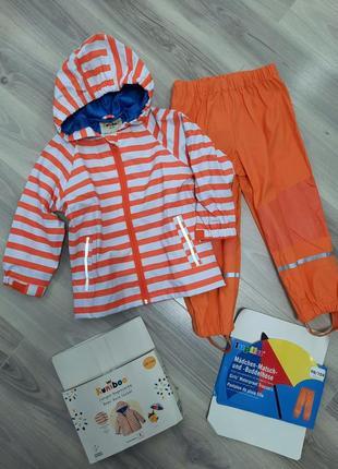 Комплект дождевик куртка kuniboo и штаны lupilu (без подкладки) 98/104