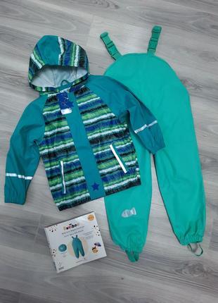 Комплект дождевик куртка lupilu и полукомбинезон kuniboo (без подкладки) 98/104