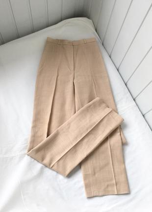 Бежевые брюки, винтажные брюки, классические брюки, высокая посадка, винтажные брюки
