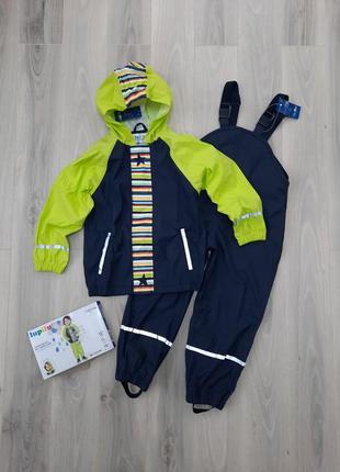 Комплект дождевик куртка и полукомбинезон (без подкладки) lupilu 110/116