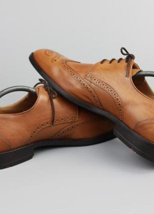 Брендовые кожаные туфли лоферы