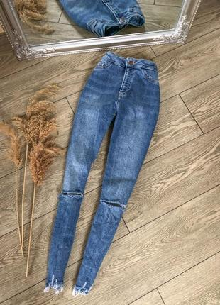 Джинсы скинни / джинсы на высокой посадке