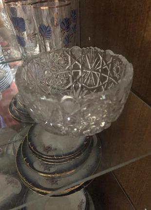 Хрусталь вазы 2 шт
