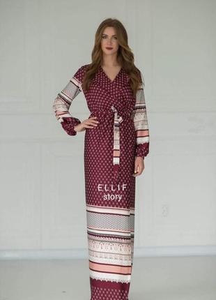 Макси платье  из шелка  с м л