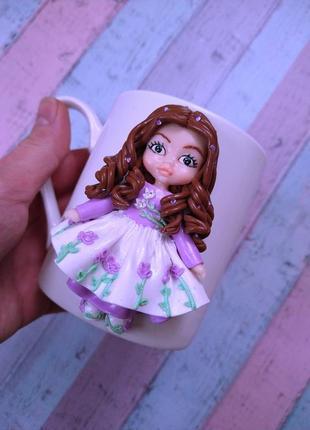 Кружка девочке из полимерной глины