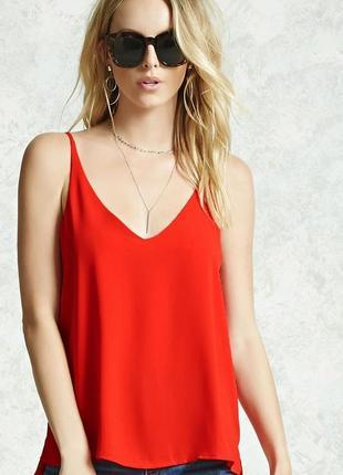 Красный топ блузка forever21