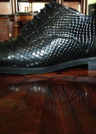 Шикарные новые туфли-оксфорды bronx из лакированной кожи