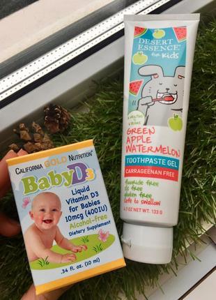 Витамин d3 с рождения + зубная паста для первых зубок и старше  набор подарочный