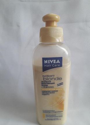 Эмульсия для волос блистающий блонд,nivea