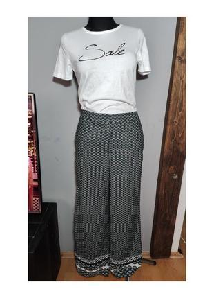 Стильні брюки палаццо h&m штани в принт conscious