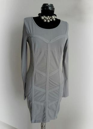 Трикотажное платье миди длинный рукав