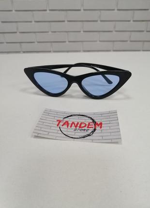 Женские солнцезащитные очки лисички синие