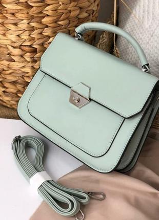 Зеленая прямоугольная сумочка