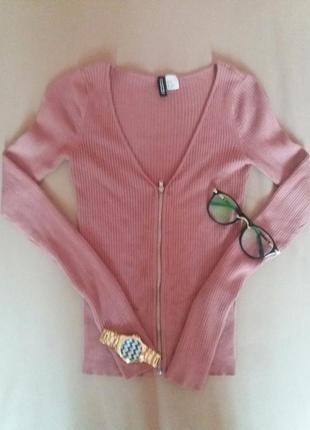 Джемпер в рубчик(кардиган, свитер, кофта)