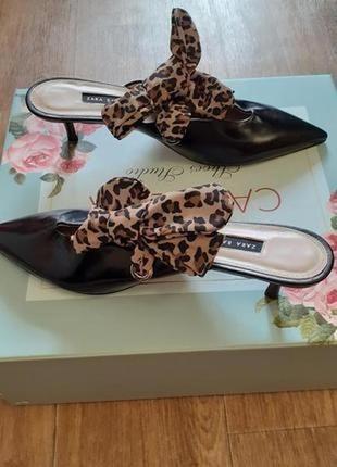 💥💥💥эксклюзив!!! натуральные кожаные туфли,мюли от zara. производство испания! новые!💥💥💥