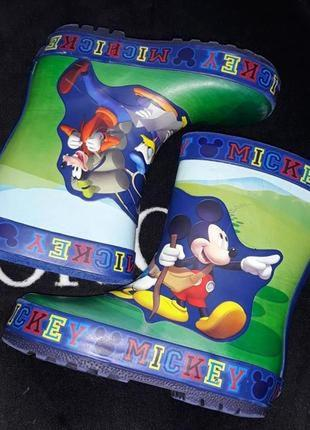 Резиновые сапоги минни маус disney minnie mouse disney mickey mouse