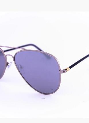 Солнцезащитные зеркальные очки унисекс авиатор - стальные цвет линз: серый