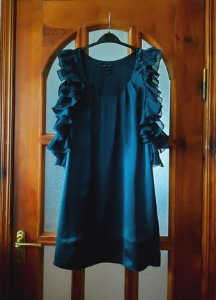 Шикарное шелковое 100% платье mango размер s-xs