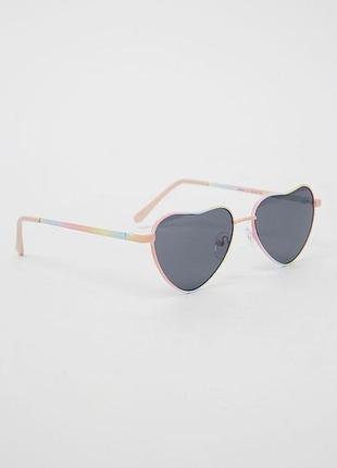 Солнцезащитный очки сердце для девочки 3-7 лет 100% uv protection